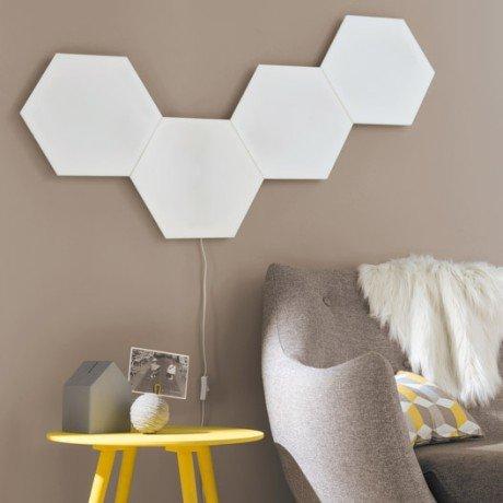 kit-panneau-led-decoratif-puzzle-1-x-10-w-plastique-blanc-inspire-1