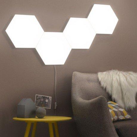 kit-panneau-led-decoratif-puzzle-1-x-10-w-plastique-blanc-inspire
